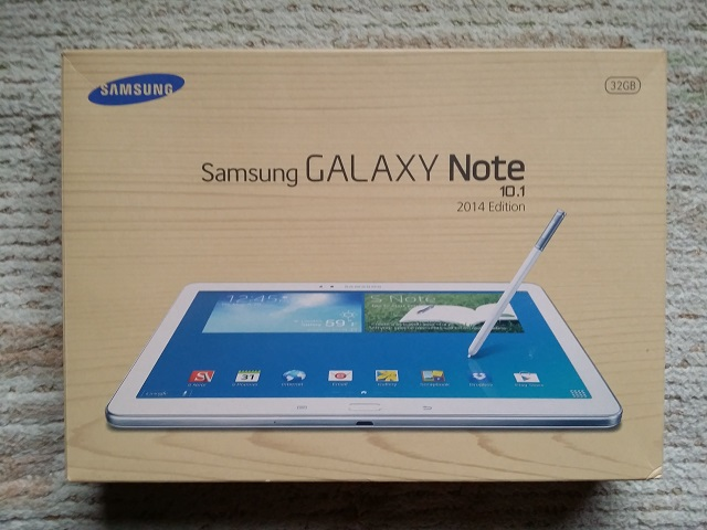 Galaxy Note 10.1(2014)SM-P605開封の儀(外箱)