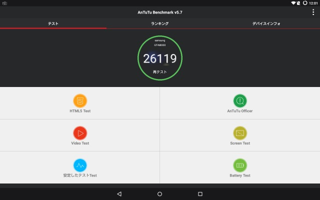 Galaxy Note 10.1、lollipop5.1ベースのカスタムROM(ベンチマーク)